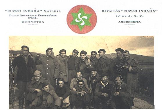 batallon Euzko Indara. Guerra del 36