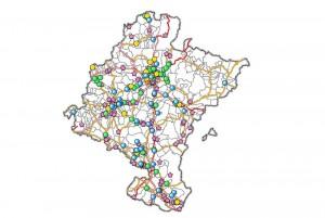 Nafarroako fosen mapa